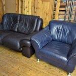 Couch Sofa 2er Sessel Leder