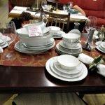 Aktion der gedeckte Tisch