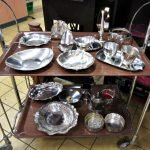 Aktion der gedeckte Tisch Silberschalen