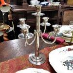 Aktion der gedeckte Tisch Kerzenständer
