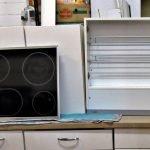 Einbauküche Nobilia weiss AEG Schrank Dunstabzug und Induktions-Kochfeld