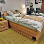 Trendiges Bett komplett