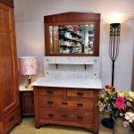 Schlafzimmer antik Gründerzeit Waschtisch Kommode