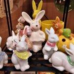 Oster-Dekoration Hasenfiguren