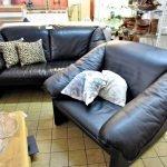 Sofa Leolux 2er Sessel Leder schwarz