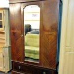 Dielenschrank Holz Antik mit Spiegel