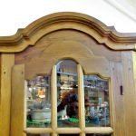 Eckvitrine Eiche rustikal Holz