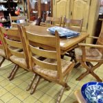 Essgruppe Eiche rustikal Tisch mit Stühlen