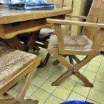 Essgruppe Eiche rustikal Stuhl