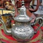 Teekanne orientalisch versilbert
