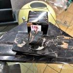 Schreibtischgarnitur Marmor