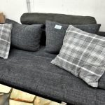 Moderne Wohnmöbel Couch Stoff grau