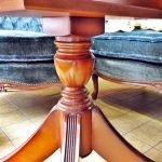 Tisch oval Holz antik