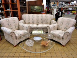 Couchgarnitur 2-1-1 Stoff edel