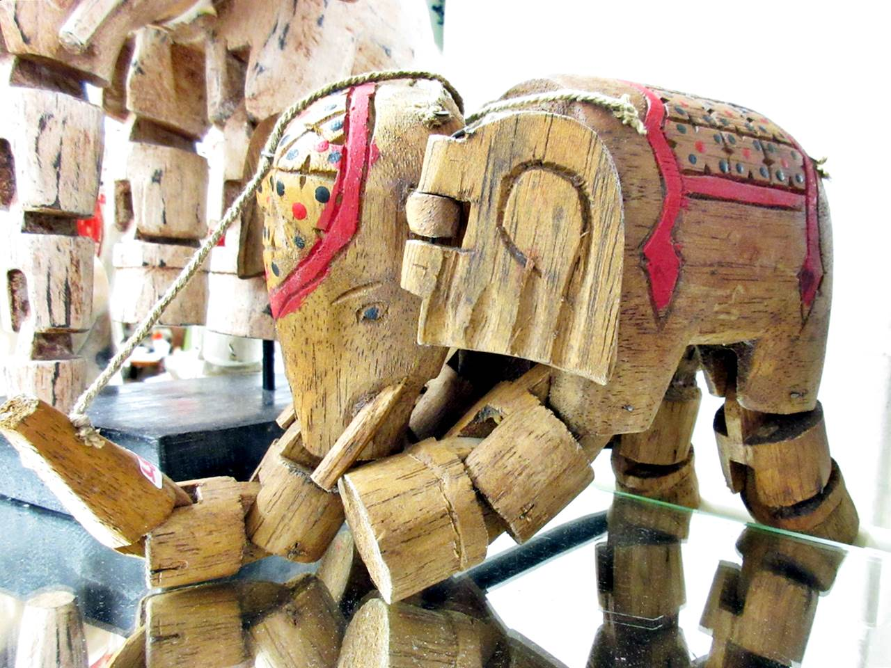 Elefanten Holz Marionette