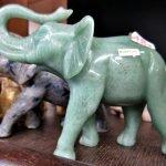 Elefant Stein Aventuria grün