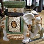 Elefant Keramik Blumenständer