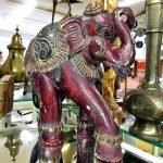 Elefant Holz bemalt