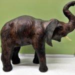 Elefant Holz dunkel groß