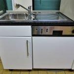 Einbauküche weiss 345 Geschirrspüler
