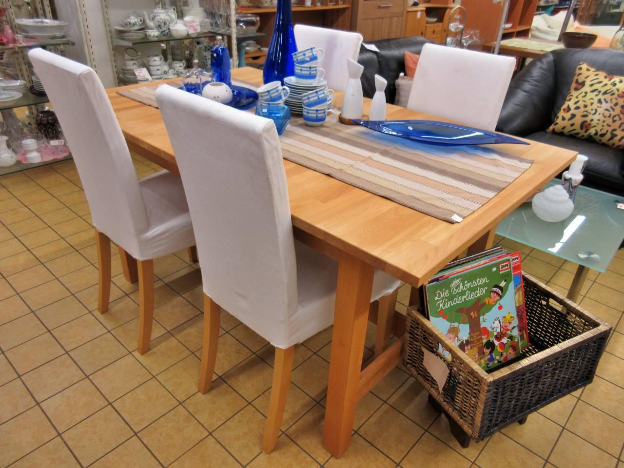 Essgruppe Tisch mit 4 Stühlen