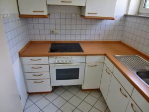 Einbauküche weiss / buche