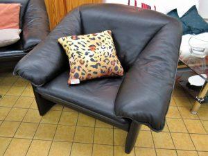 Couchgarnitur Leolux Leder schwarz