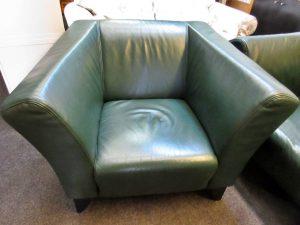 Couchgarnitur Leder grün
