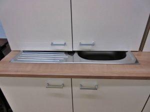 Einbauküche Küchenschränke hellbeige