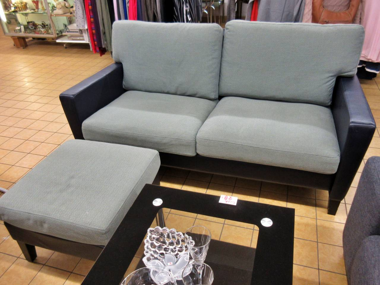 Couch Walter Knoll dunkelblau grünblau