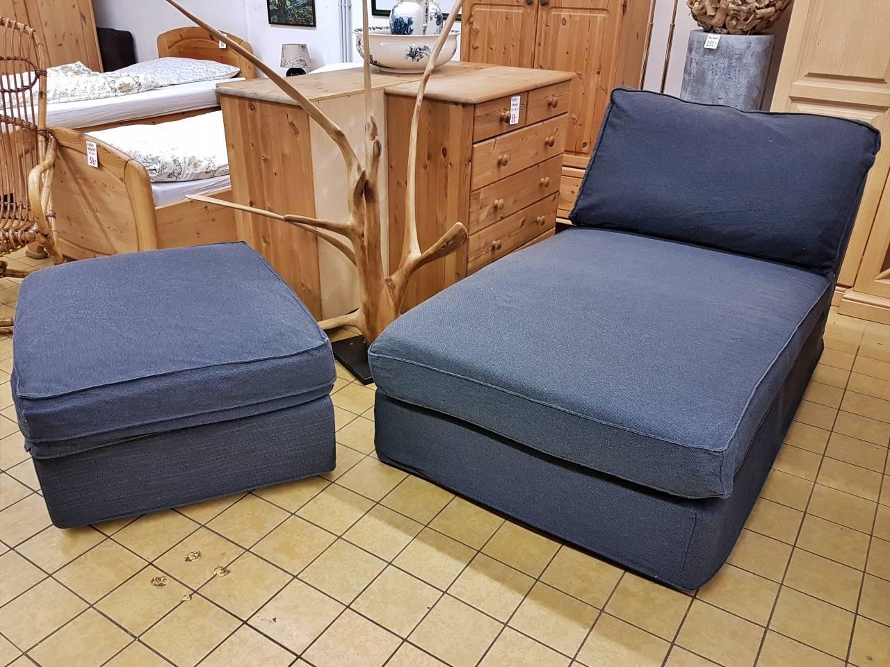 Kivik Recamiere mit Hocker grau IKEA