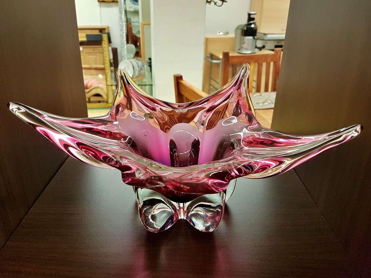 Dekoration schöner Wohnen Obstschale aus Glas im Murano-Stil