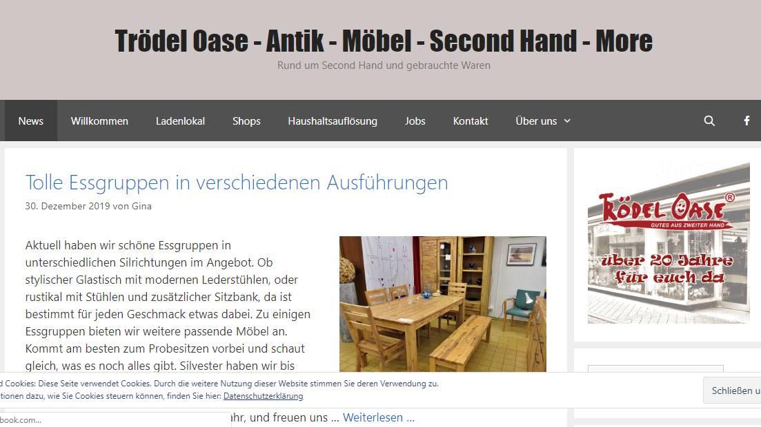 Trödel Oase unsere neue Website ist online