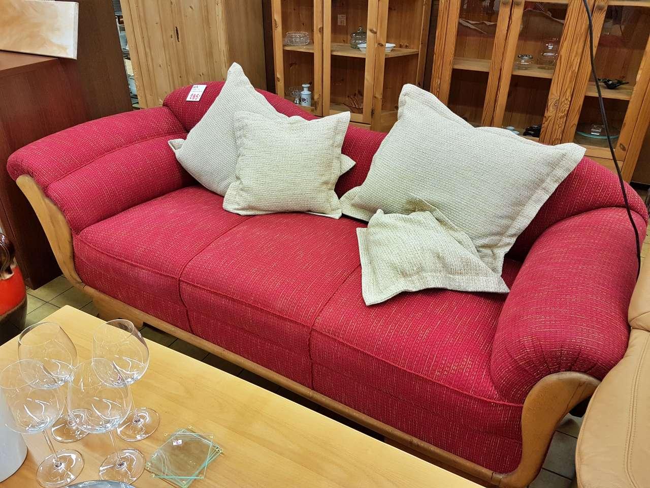 Wohnmöbel Sofa Stoff rot
