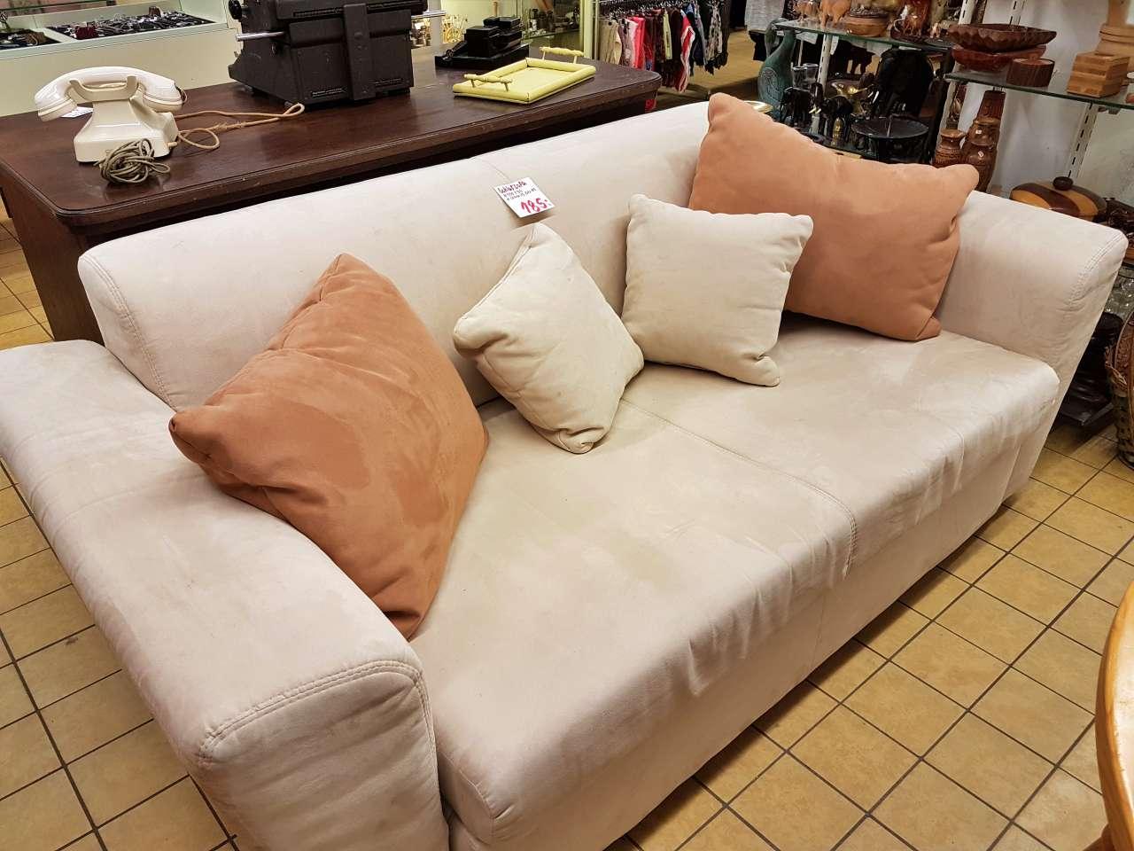 Wohnmöbel Schlafsofa Stoff beige