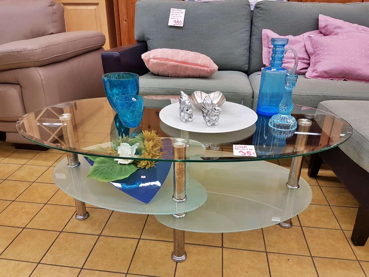 Wohnmöbel Wohnzimmertisch modern Glas