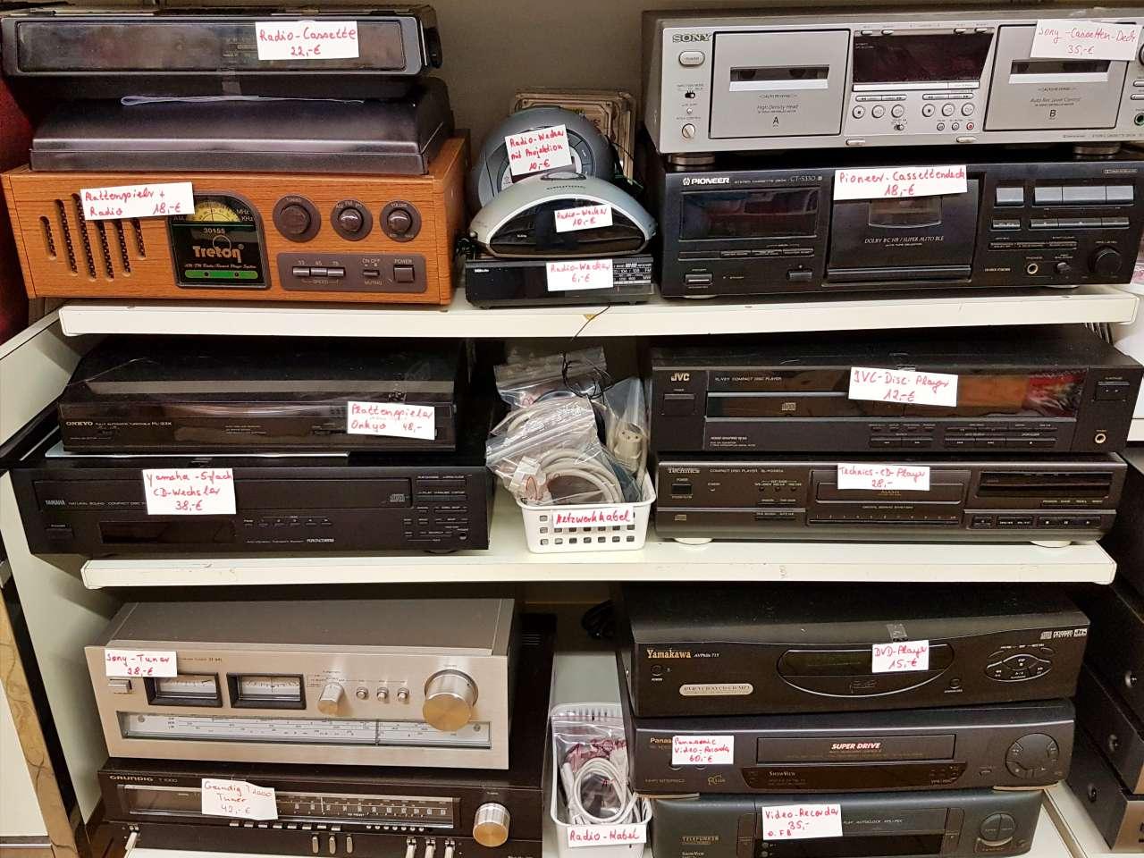 Hifi und Video Geräte in grosser Auswahl
