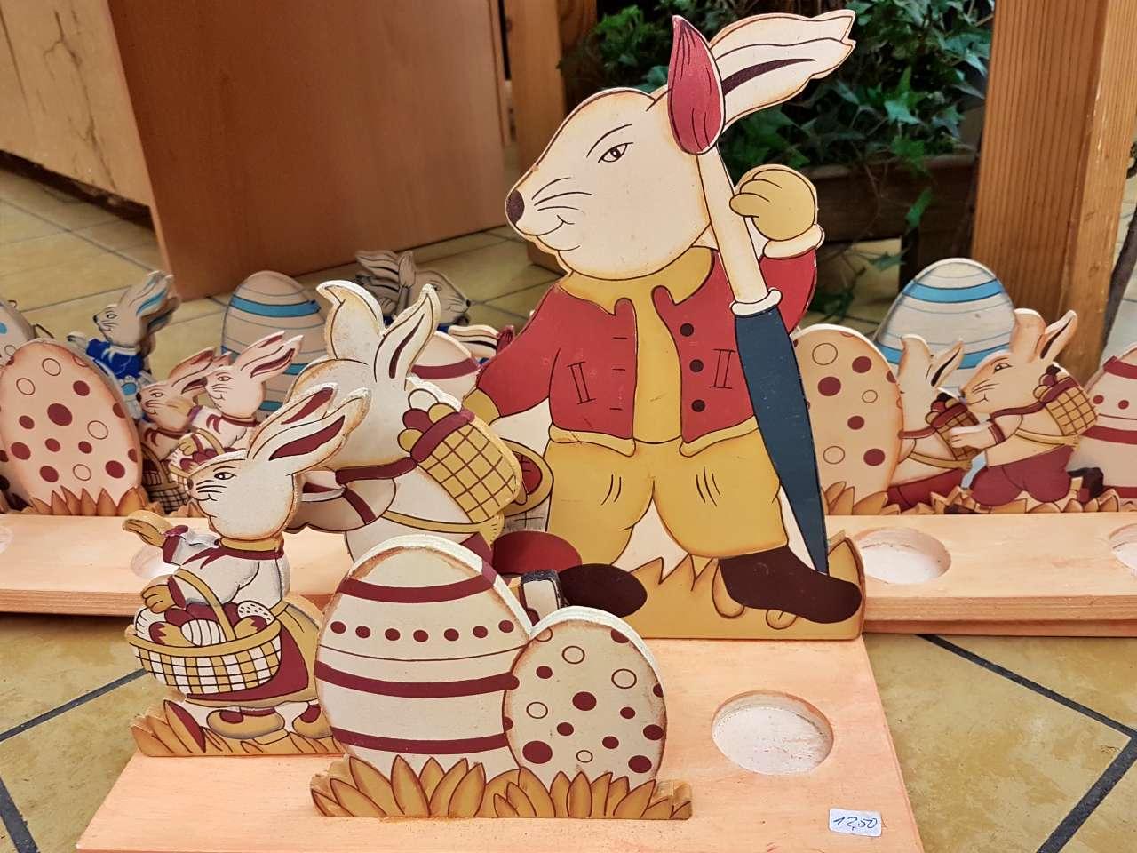Osterdeko Teelichthalter Holz Handarbeit