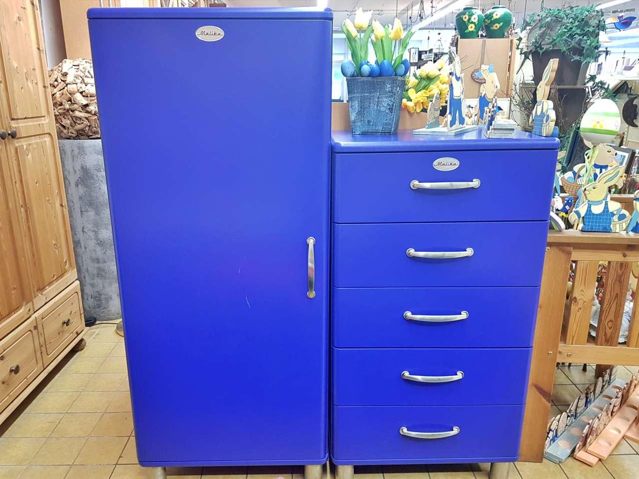 Möbel Wäscheschrank Kommode Mailbu Tenzo blau