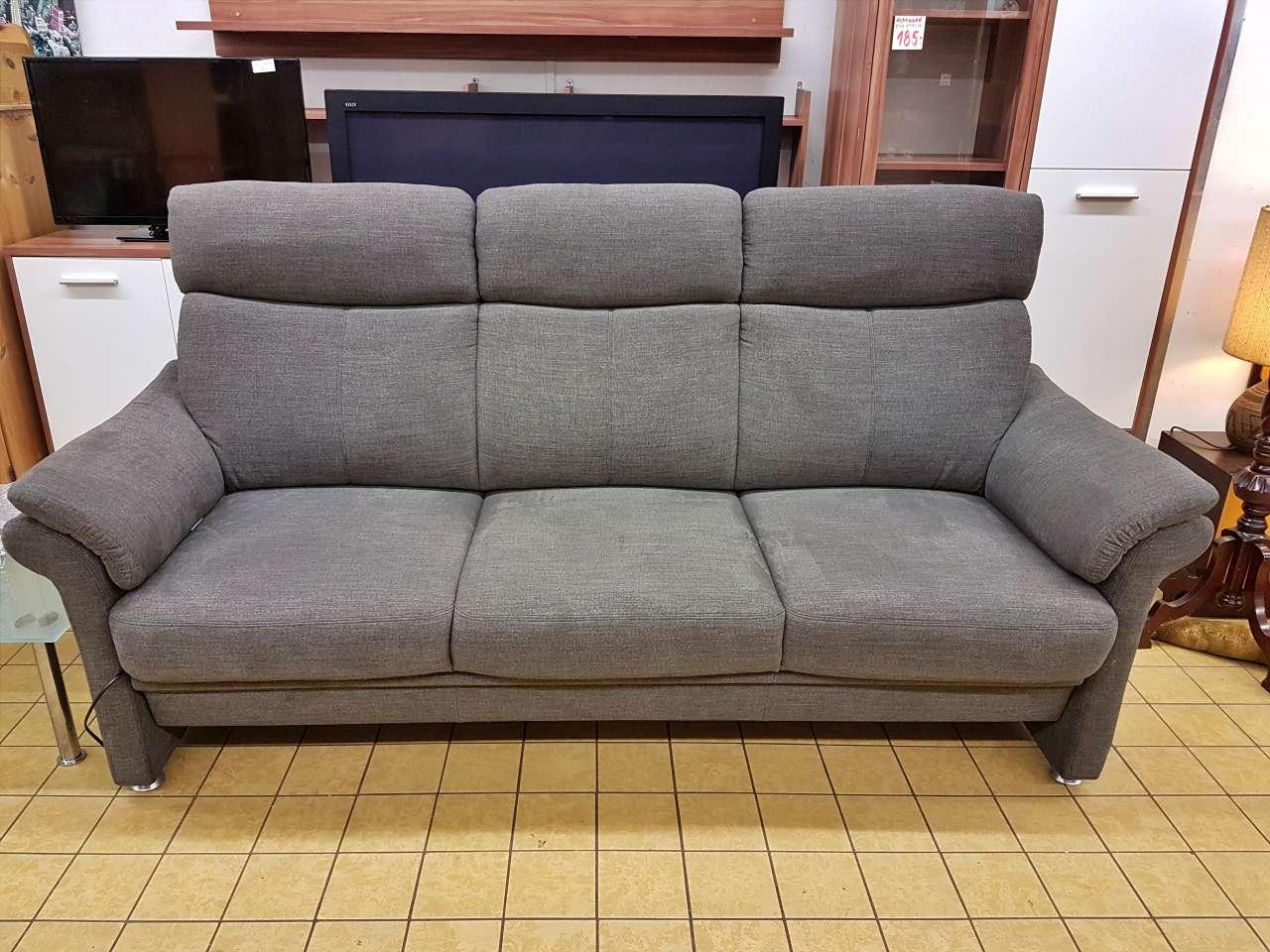 Couch Sofa Stoff grau Arco