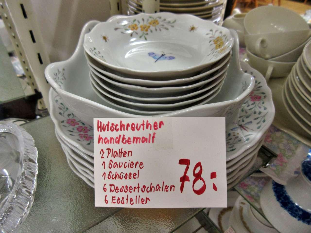 Porzellan Geschirr Hutschenreuther handbemalt