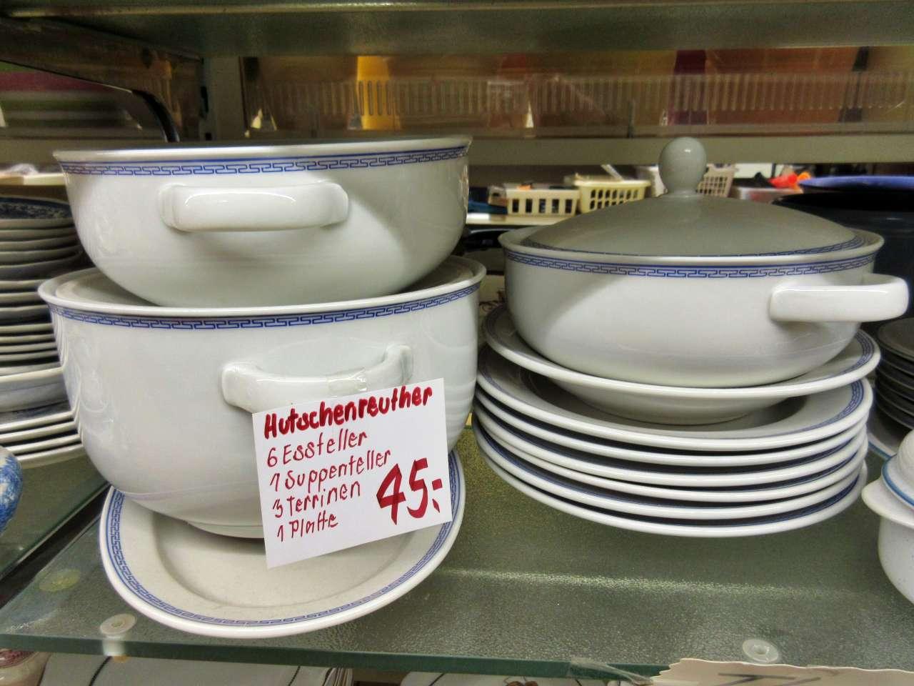 Porzellan Geschirr Hutschenreuther blau