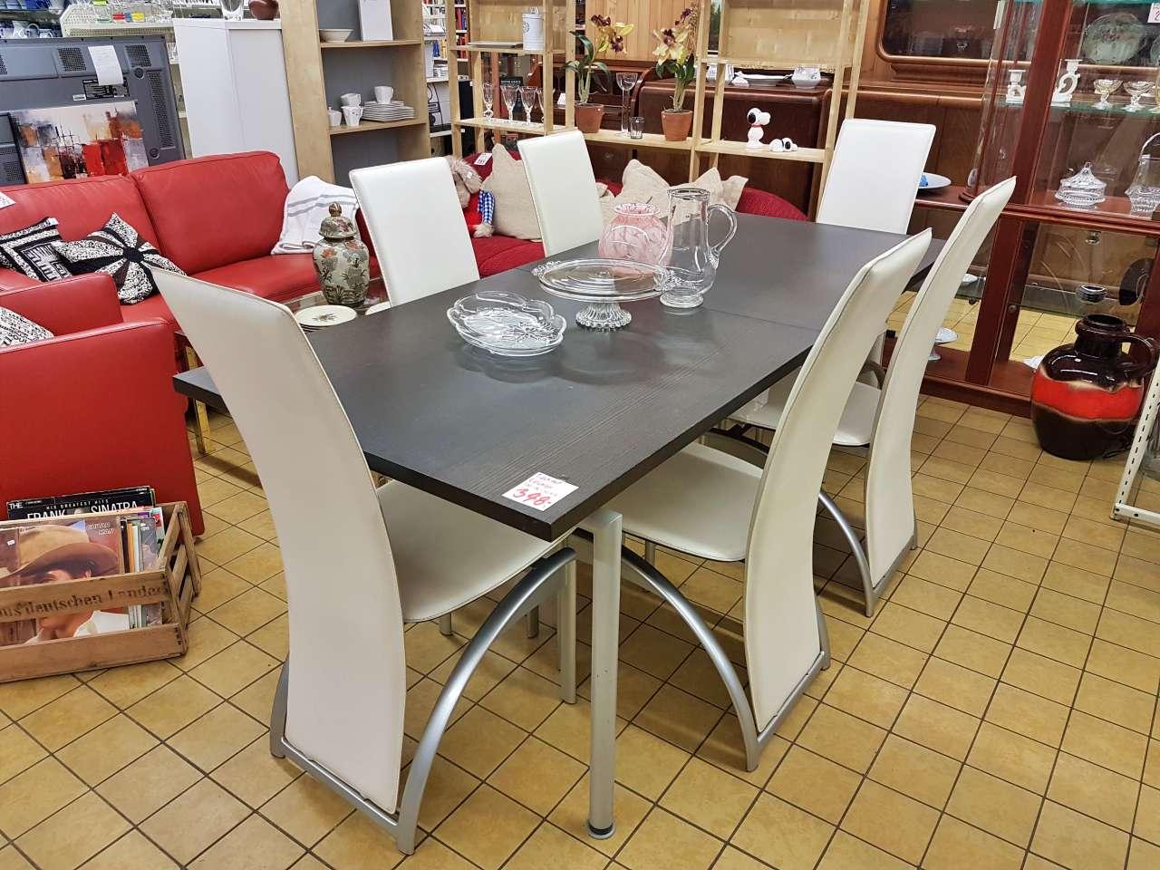 Möbel und Einrichtung modern Essgruppe Tisch mit Stühlen