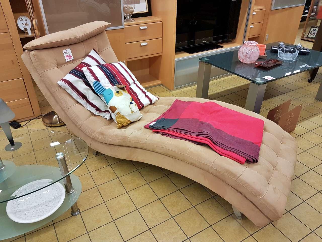 Wohnmöbel Liege Relaxsessel Recamiere braun