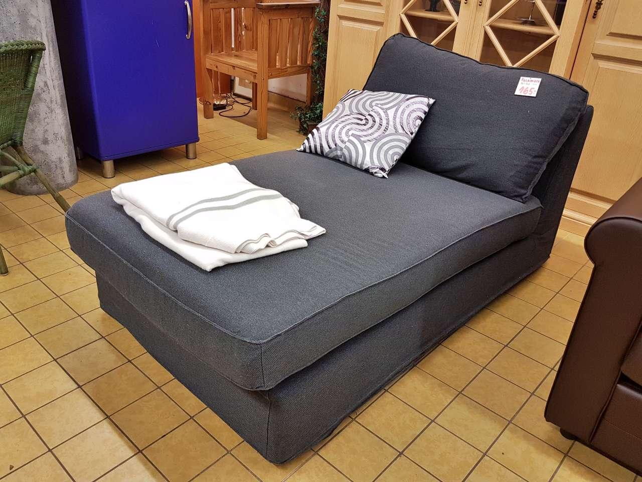 Liege Schlafsofa IKEA Kivik grau Stoff