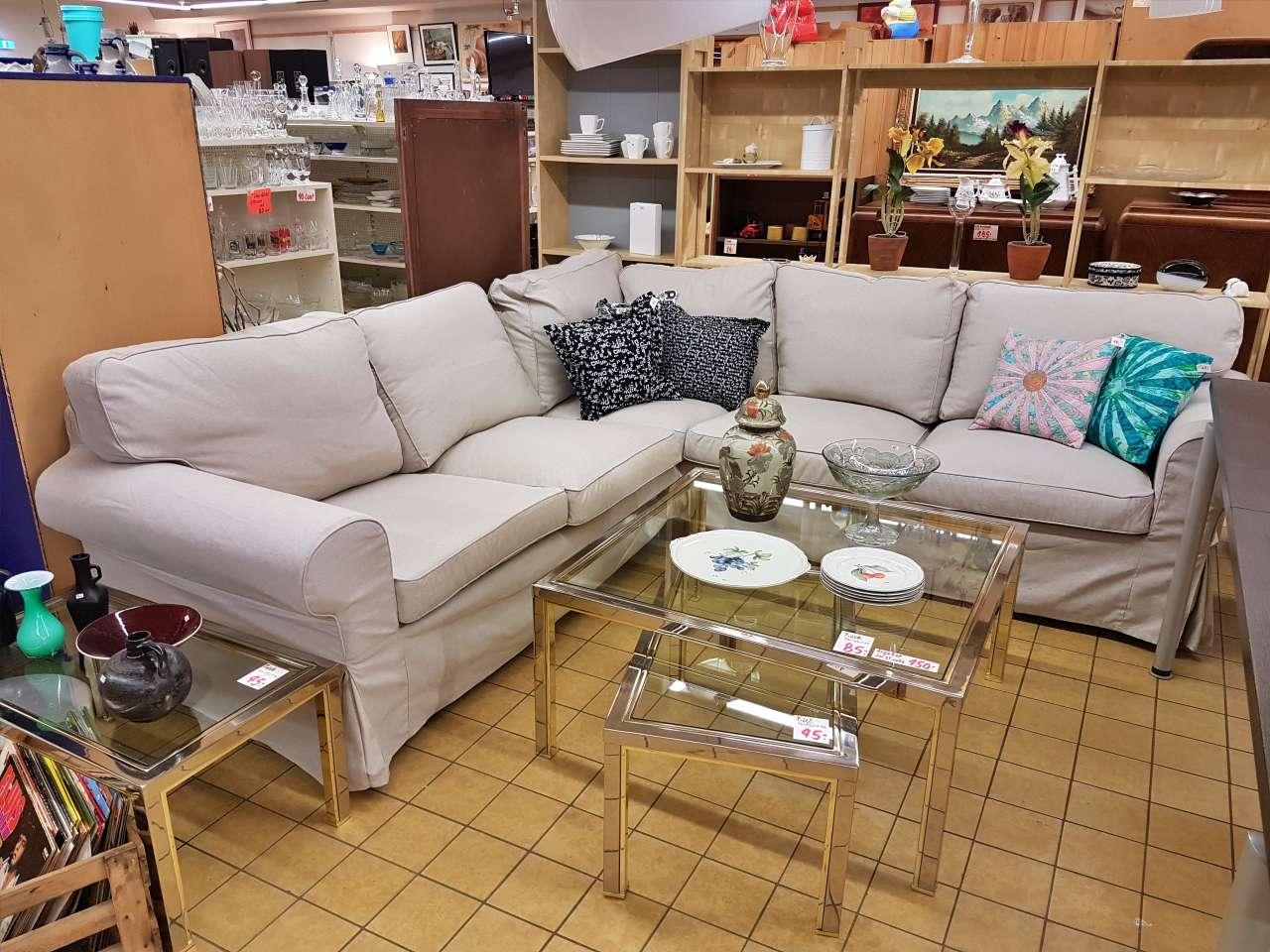 Ecksofa Eckcouch IKEA Ektorp beige Stoff