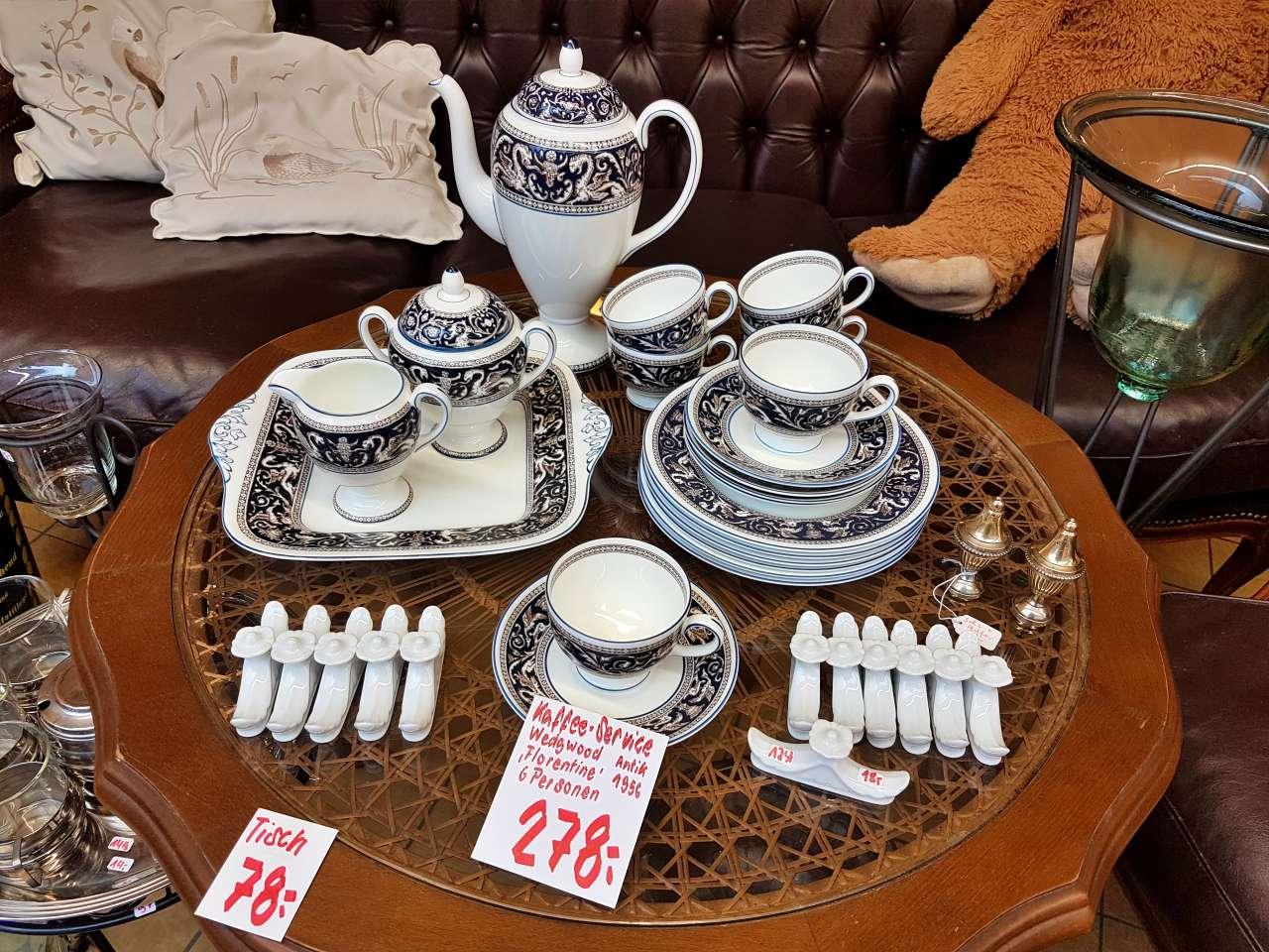 Kaffee-Service Wedgwood Antik Florentine 1956